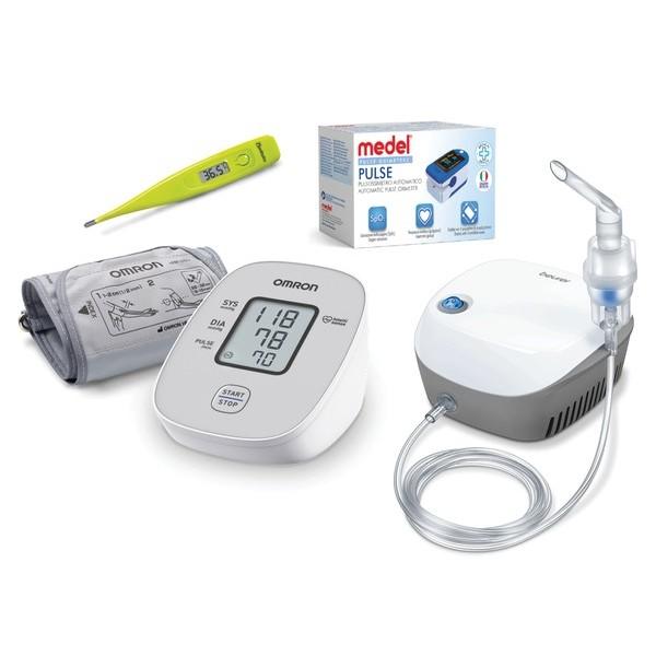 """Пакет """"Здравна грижа"""", апарат за кръвно, инхалатор, пулсоксиметър, термометър"""