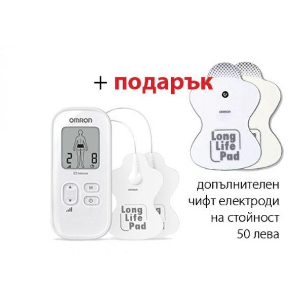 Omron E3 Intense мускулен електростимулатор + подарък Long Life електроди